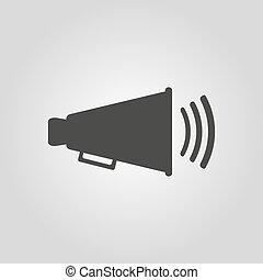 lägenhet, ikon, megafon, Megafon,  Symbol
