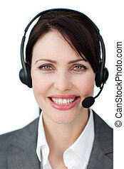 Radiant customer service agent using headset