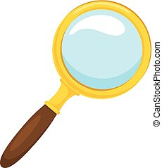 Loupe. - Isolated icon pictogram. Eps 10 vector...