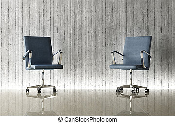modern office chair and wall decor - modern office chair and...