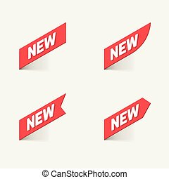 Sign New. Vector.