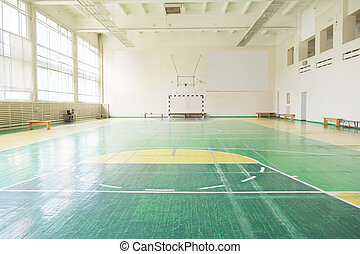 hall for sport games - Interior of hall for sport games