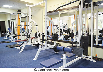 fitness hall - The image of a fitness hall