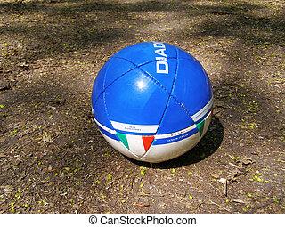football on the ground