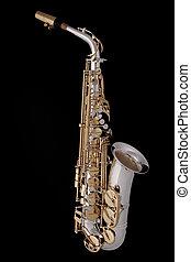 Saxophone Alto Complete on Black