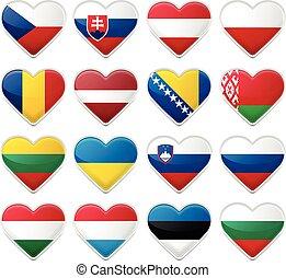 Set of European Flags