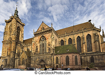 Saint Martin Collegiate church in Colmar - Gothic Saint...
