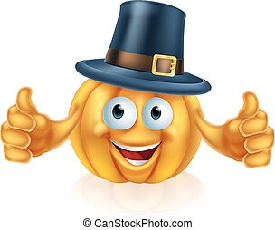 Pilgrim hat pumpkin - A cartoon thanksgiving pilgrim hat...