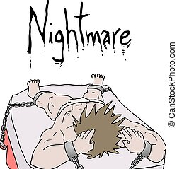 nightmare illustration - Creative design of nightmare...