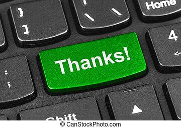 informatique, cahier, clavier, à, remerciement,...
