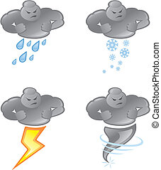 Bad weather - Vector Illustration