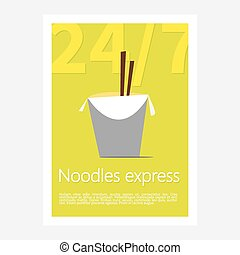 Noodles restaurant poster. Template poster of noodles...