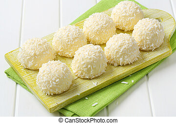 White Chocolate and Coconut Truffles - White chocolate...