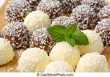 Chocolate coconut snowball cookies - Chocolate snowball...