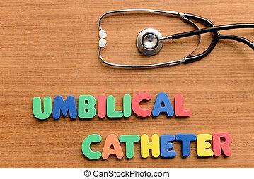 umbilical, catéter,
