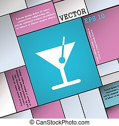 cocktail icon sign. Modern flat style for your design. Vector