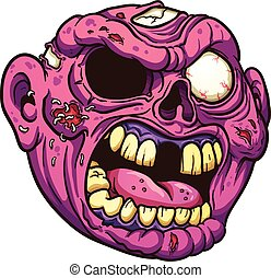 Cartoon zombie - Yelling cartoon zombie. Vector clip art...