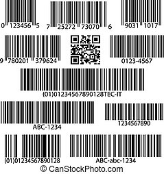 Barcodes vector set