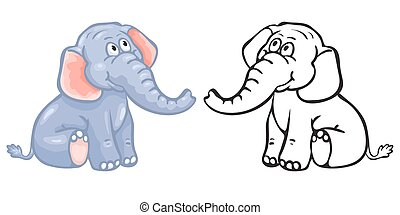 Coloring book elephant.