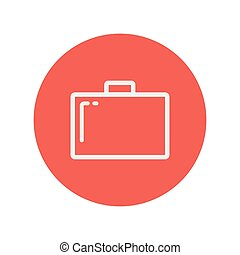 Briefcase thin line icon for web and mobile minimalistic...