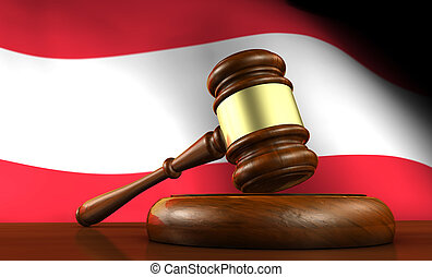 Austrian Law And Justice Concept