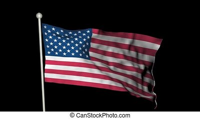 United States flag waving - Looping American flag waving...