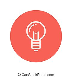 Light bulb thin line icon for web and mobile minimalistic...