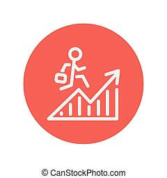 Financial recovery thin line icon