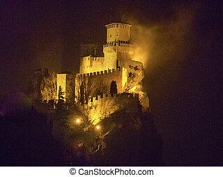 Rocca della Guaita, castle in San Marino republic, Italy