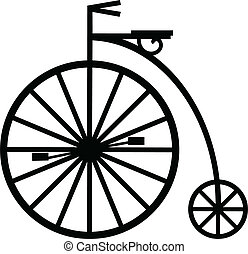 Pennyfarthing - Vector of a pennyfarthing cycle isolated on...