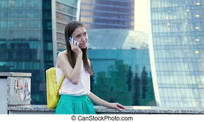 Lady talking on the mobile phone