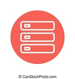 Optical drive thin line icon for web and mobile minimalistic...