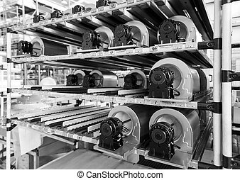 fan motors on the rollers gravitational ready to be used on...