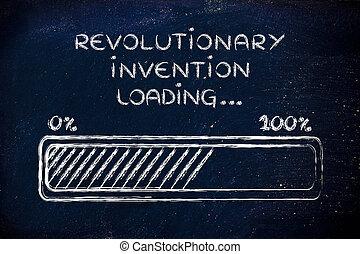 revolucionario, barra, carga, Ilustración, invención, progreso