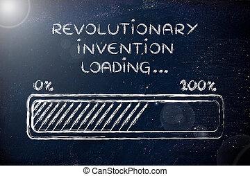 revolutionär, hinder, ladda,  Illustration, Uppfinning, framsteg