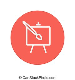 Art thin line icon for web and mobile minimalistic flat...