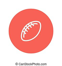 Football ball thin line icon