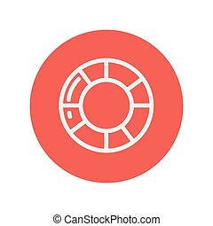 Life preserver thin line icon for web and mobile...