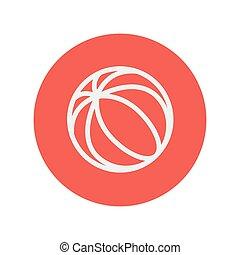Beach ball thin like icon