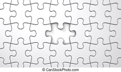 White Jigsaw Puzzle.