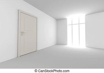 ajtó, Szoba, Üres