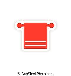 icon sticker realistic design on paper towel spa