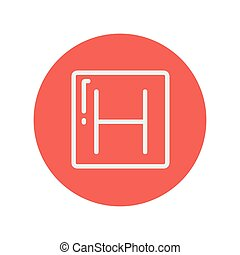 Hospital thin line icon for web and mobile minimalistic flat...