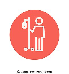 Patient thin line icon for web and mobile minimalistic flat...