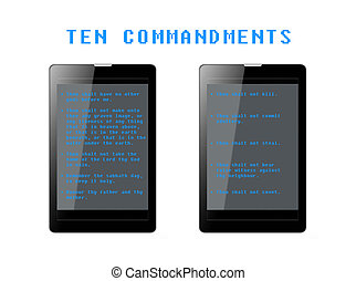 Ten Commandments Phablets - The Ten Commandments in phone...