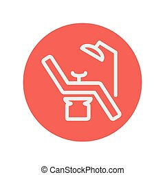 Dental chair thin line icon for web and mobile minimalistic...