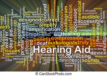 Hearing Aid background concept glowing - Background concept...