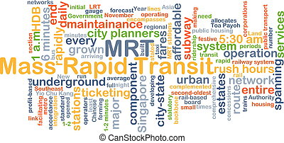 Mass rapid transit MRT background concept