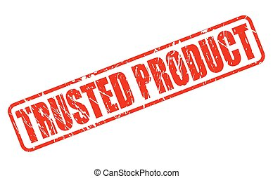 Trusted Product red stamp text