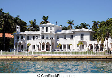 Luxury house waterside in Florida, USA